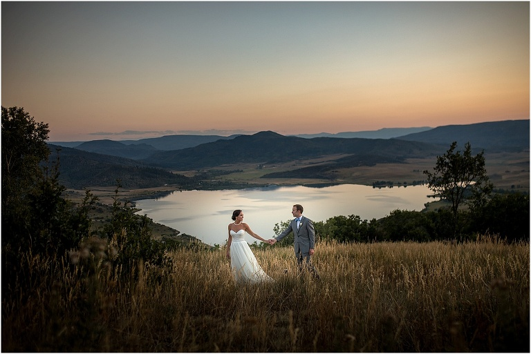 Colorado Wedding Photographer - Sunset image in Steamboat Colorado